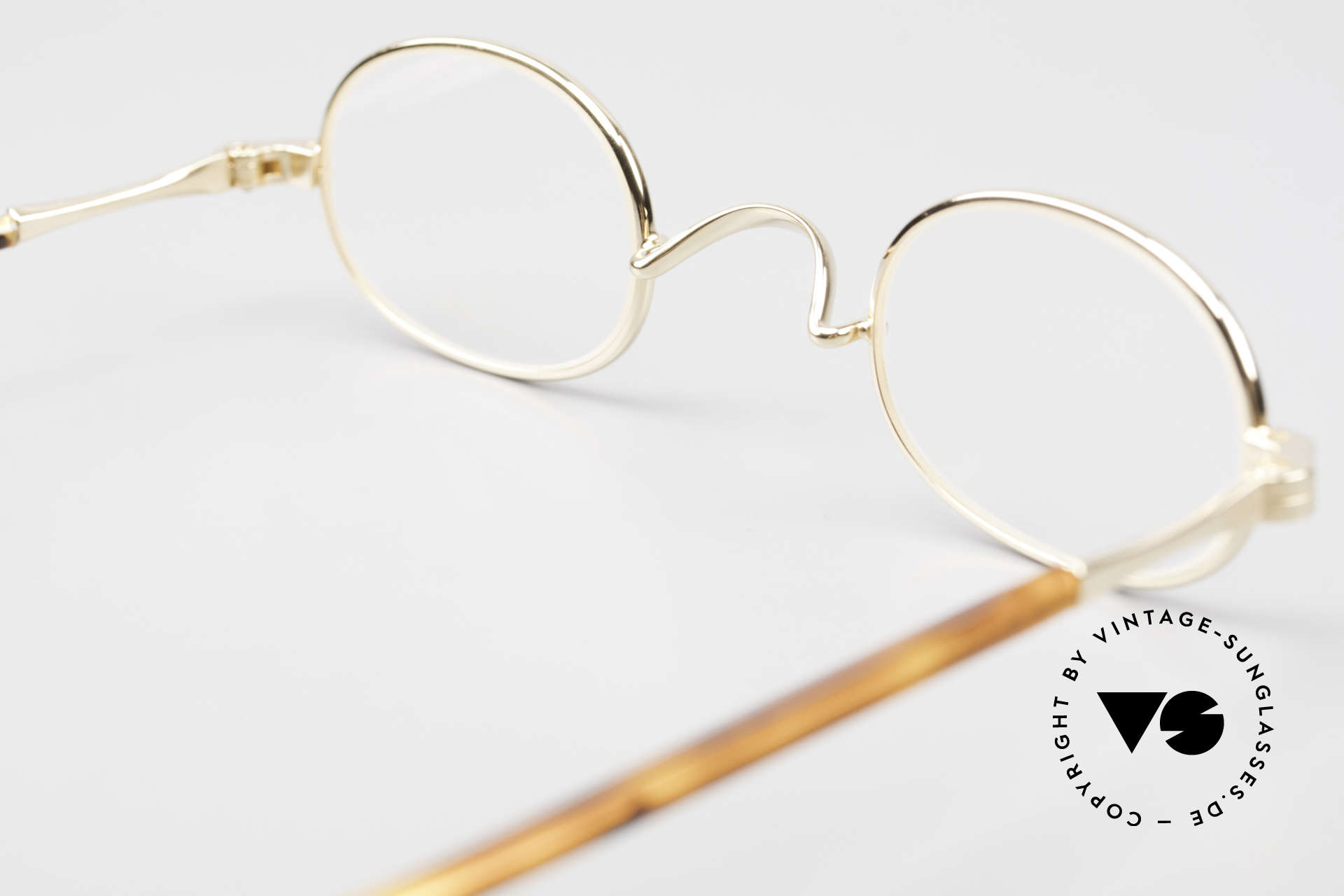 Lunor II A 08 Small Oval Glasses Gold Plated, Size: small, Made for Men and Women