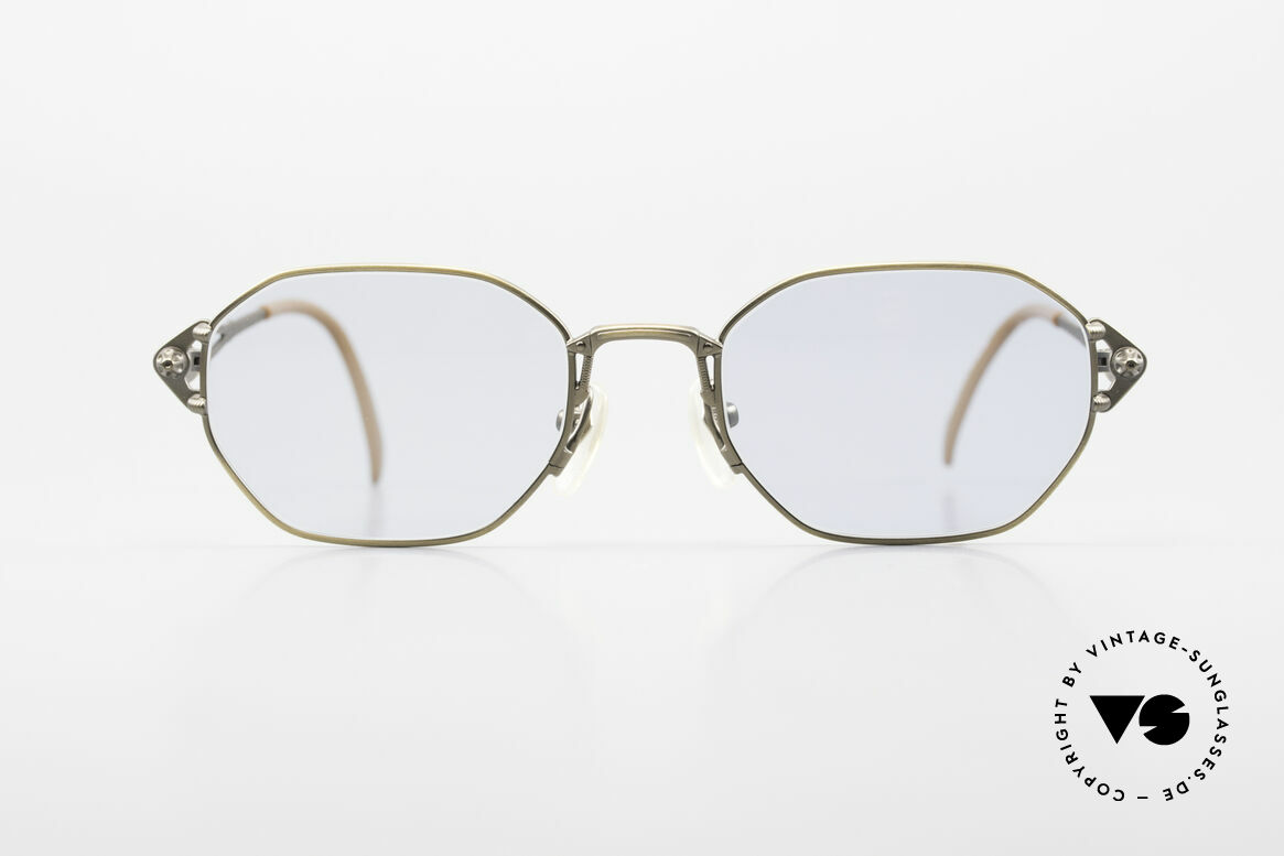 Jean Paul Gaultier 55-6106 Old 90's Designer Sunglasses, solid metal frame with many fancy details (check pics), Made for Men and Women