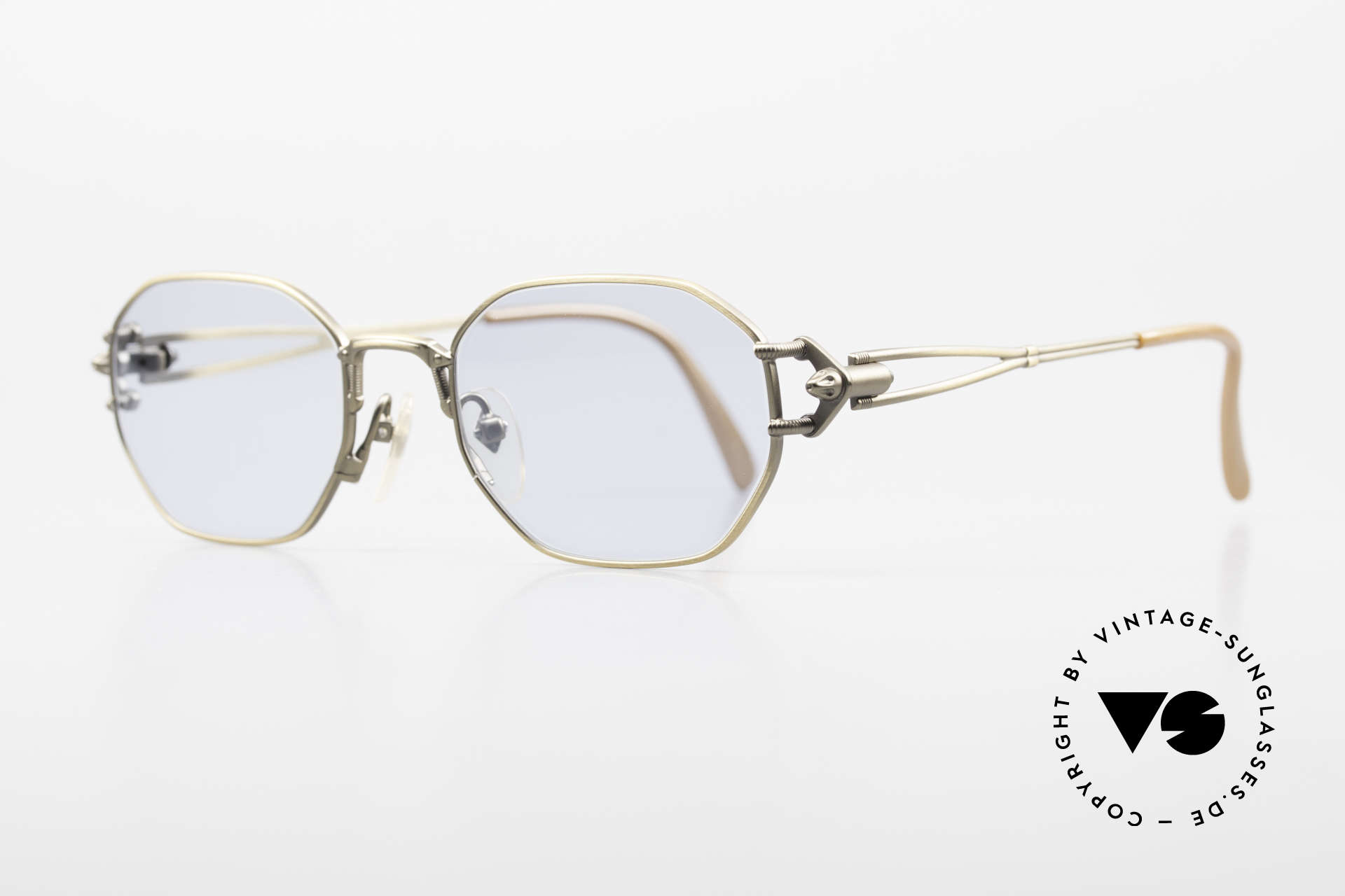 Jean Paul Gaultier 55-6106 Old 90's Designer Sunglasses, 'mechanical design' = distinctive GAULTIER collection, Made for Men and Women