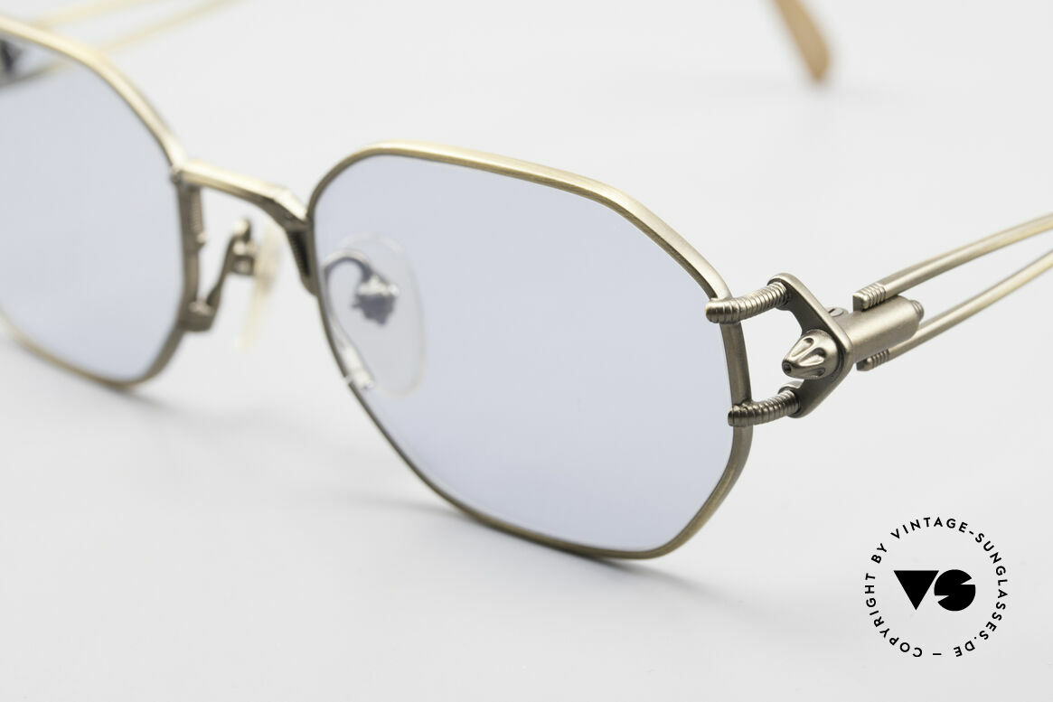 Jean Paul Gaultier 55-6106 Old 90's Designer Sunglasses, with new pale blue plastic sun lenses (45% absorption), Made for Men and Women