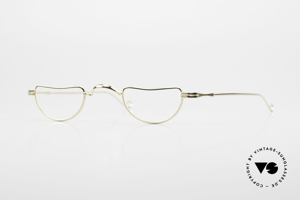 Lunor II 07 Gold Plated Reading Glasses, Lunor reading eyeglass-frame with anatomical bridge, Made for Men and Women