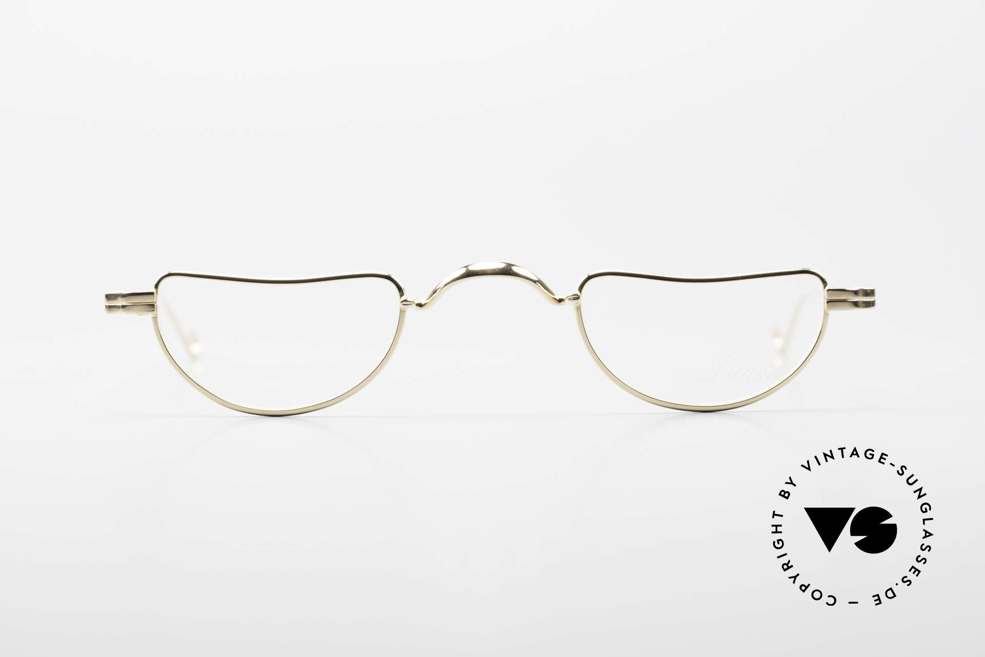 """Lunor II 07 Gold Plated Reading Glasses, model """"07"""" = the classic reading design in size 39/25, Made for Men and Women"""
