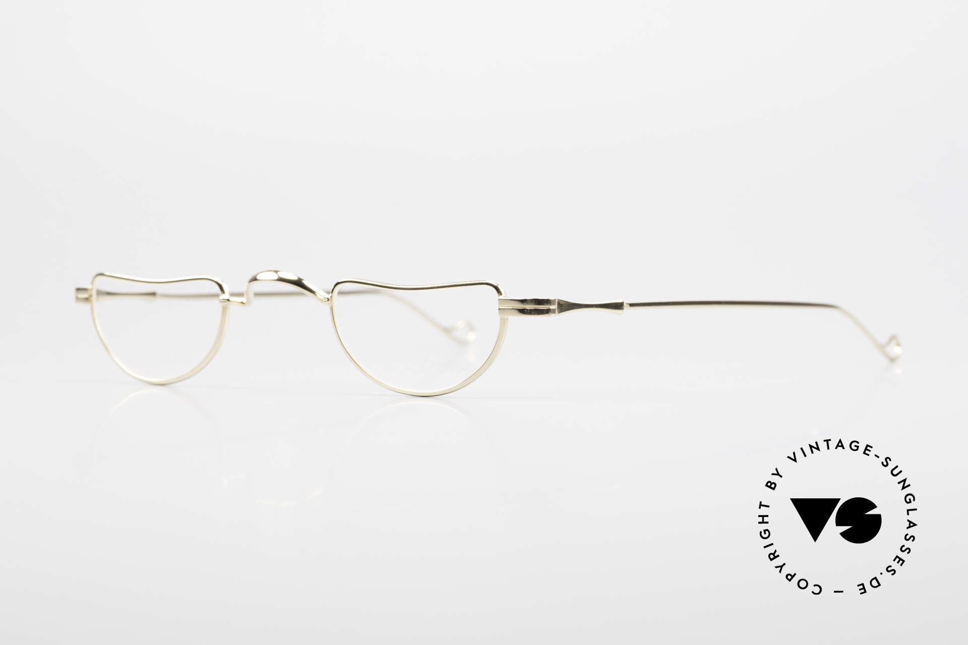 Lunor II 07 Gold Plated Reading Glasses, unisex model for ladies & gents; handmade in Germany, Made for Men and Women