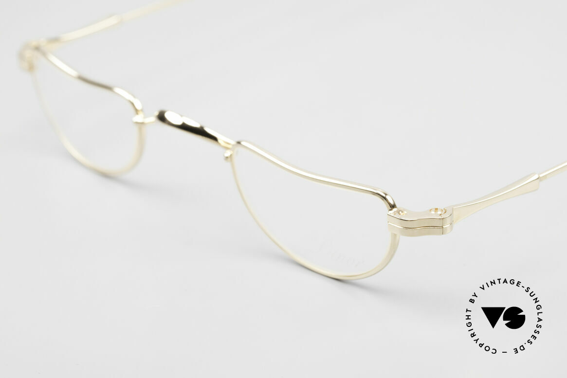 Lunor II 07 Gold Plated Reading Glasses, GOLD PLATED frame (coated with a potection lacquer), Made for Men and Women