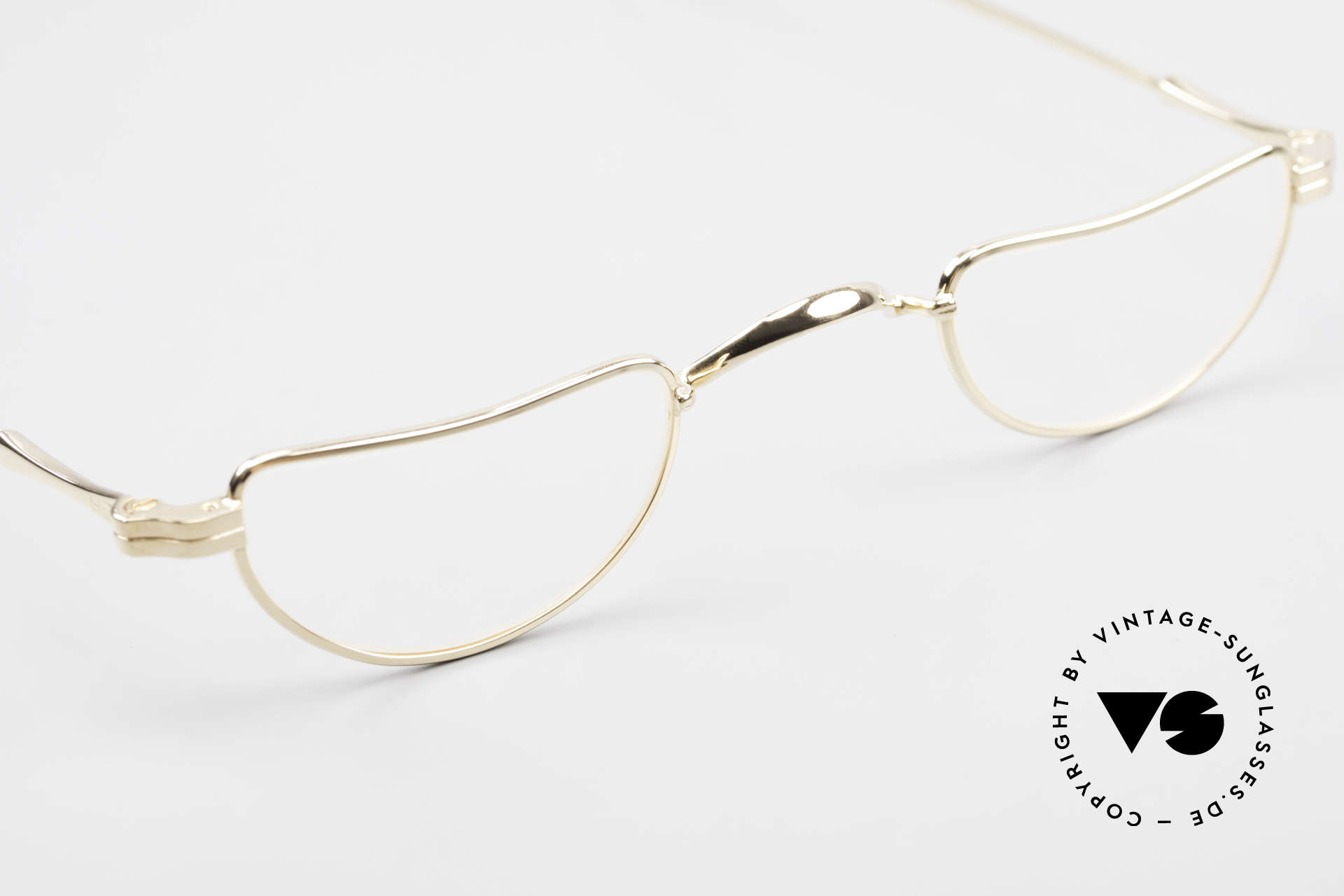 Lunor II 07 Gold Plated Reading Glasses, unworn single item (for all lovers of quality), true rarity, Made for Men and Women