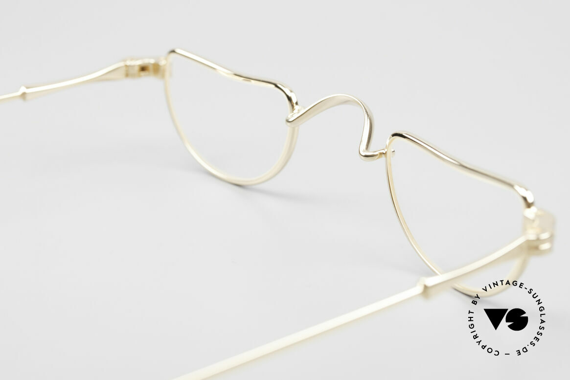 Lunor II 07 Gold Plated Reading Glasses, Size: extra small, Made for Men and Women