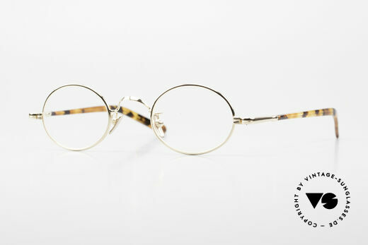 Lunor VA 100 Oval Lunor Glasses Gold Plated Details
