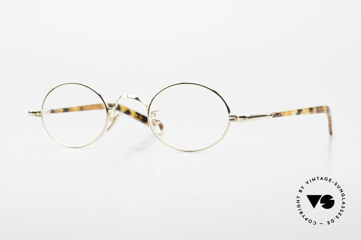 Lunor VA 100 Oval Lunor Glasses Gold Plated, old LUNOR eyeglasses, model VA 100, size 43/24, 140, Made for Men and Women