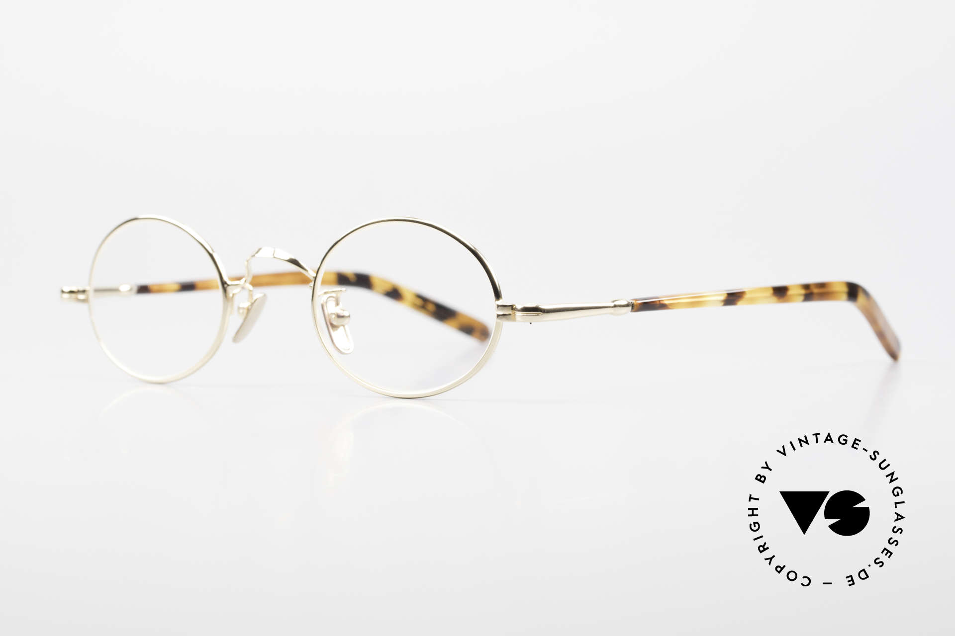 Lunor VA 100 Oval Lunor Glasses Gold Plated, LUNOR: honest craftsmanship with attention to details, Made for Men and Women
