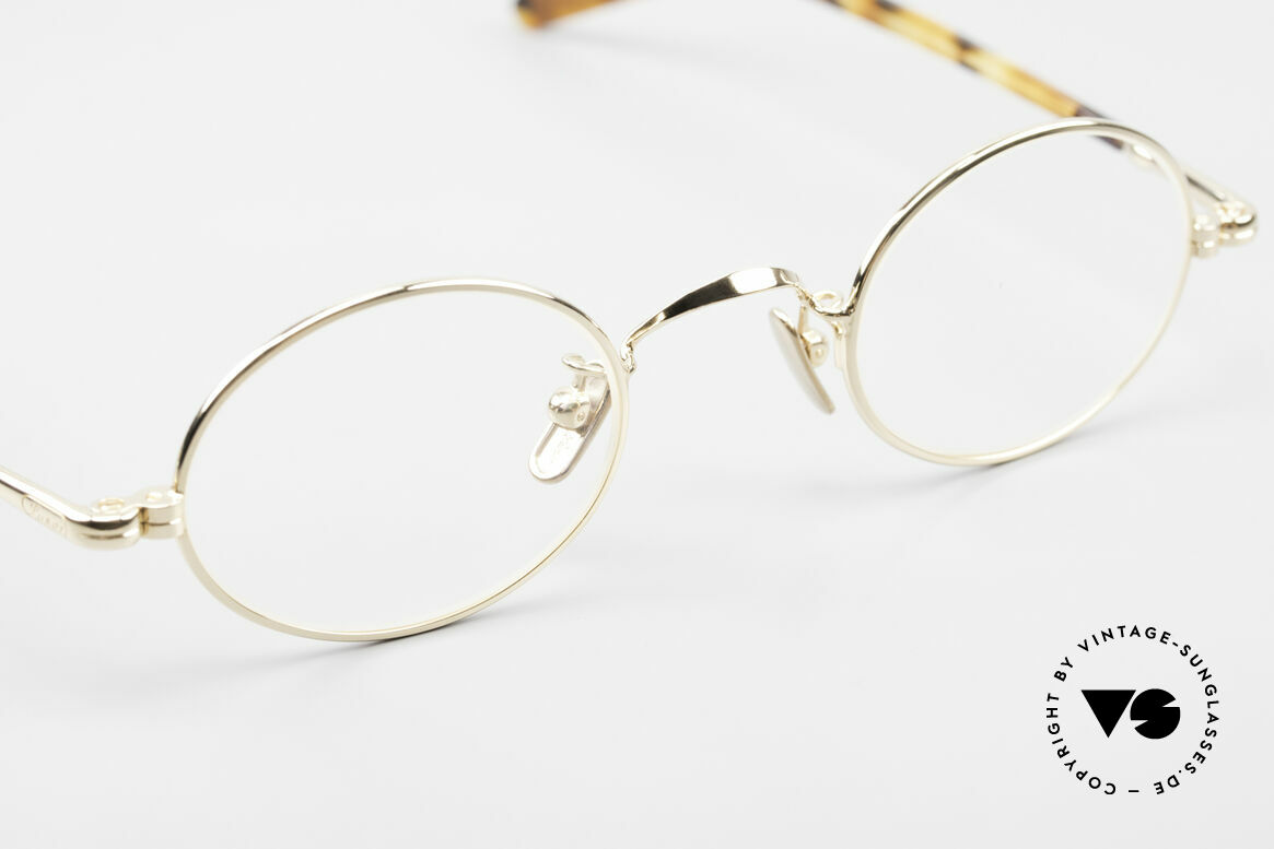 Lunor VA 100 Oval Lunor Glasses Gold Plated, unworn (like all our vintage eyewear classics by LUNOR), Made for Men and Women