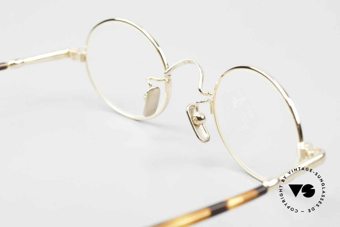 Lunor VA 100 Oval Lunor Glasses Gold Plated, Size: medium, Made for Men and Women