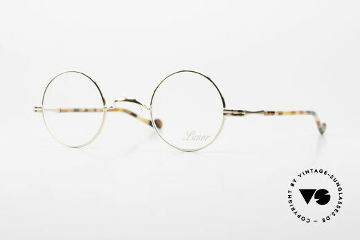 Lunor II A 12 Round Eyeglasses Gold Plated Details
