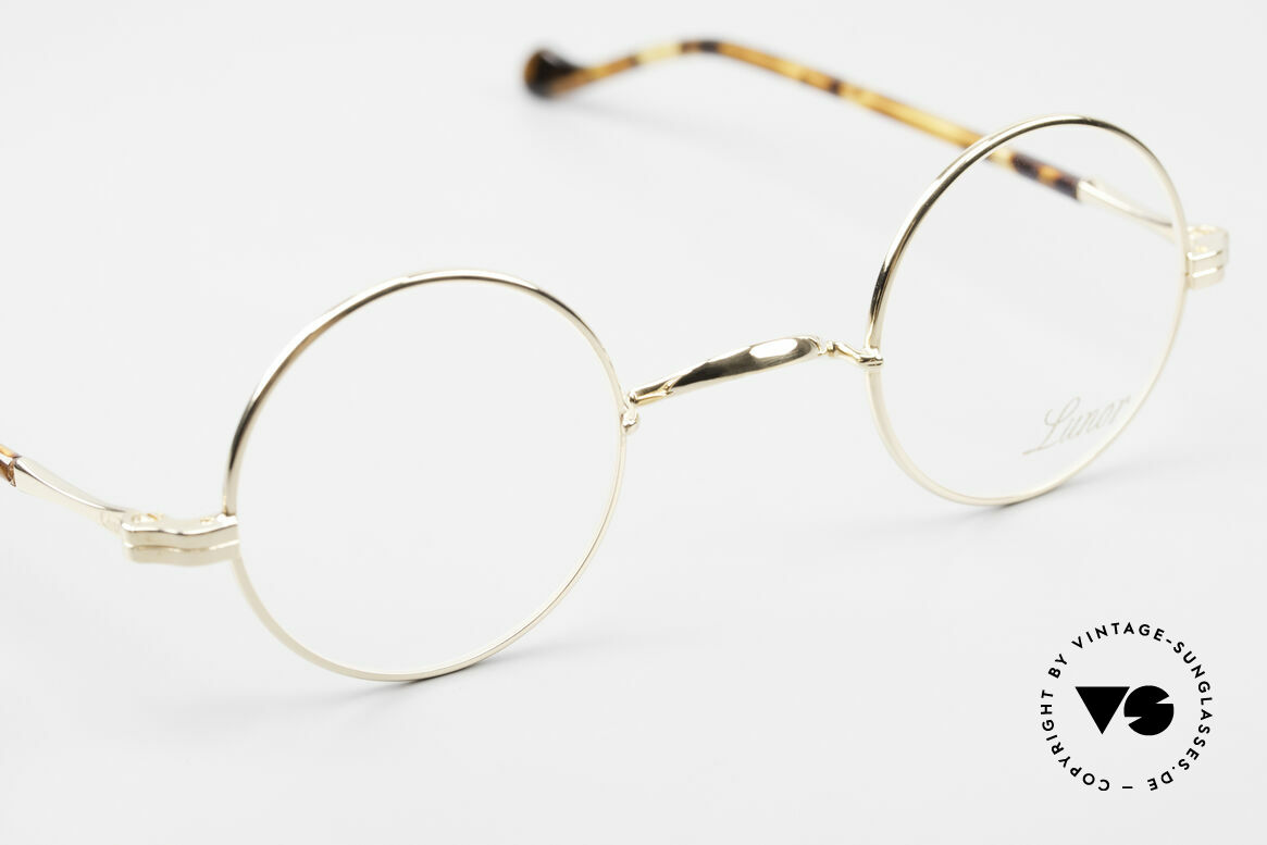 Lunor II A 12 Round Eyeglasses Gold Plated, unworn RARITY (for all lovers of quality) from app. 2010, Made for Men and Women