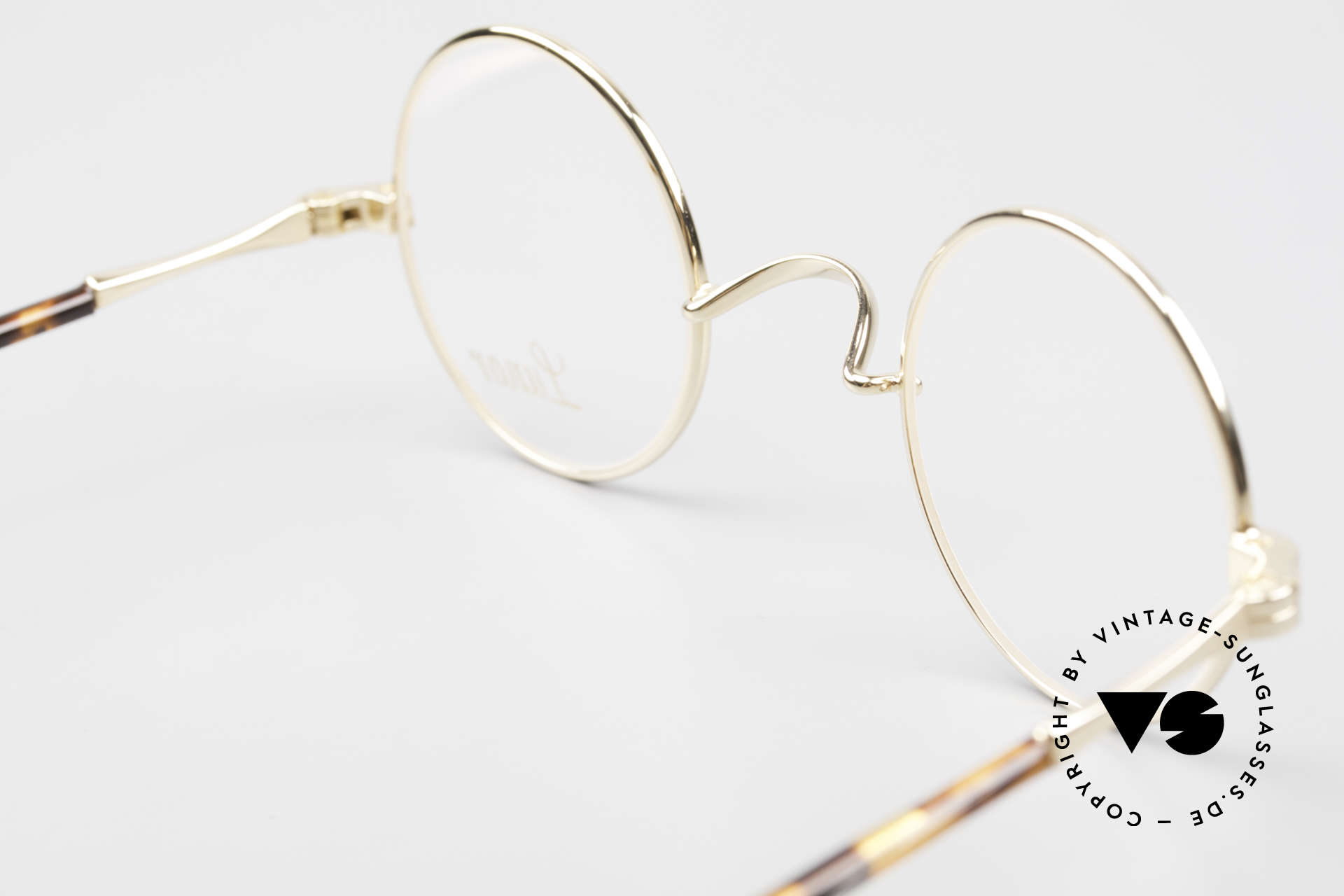 Lunor II A 12 Round Eyeglasses Gold Plated, Size: extra small, Made for Men and Women