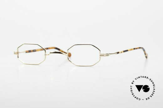 Lunor II A 01 Octagonal Glasses Gold Plated Details