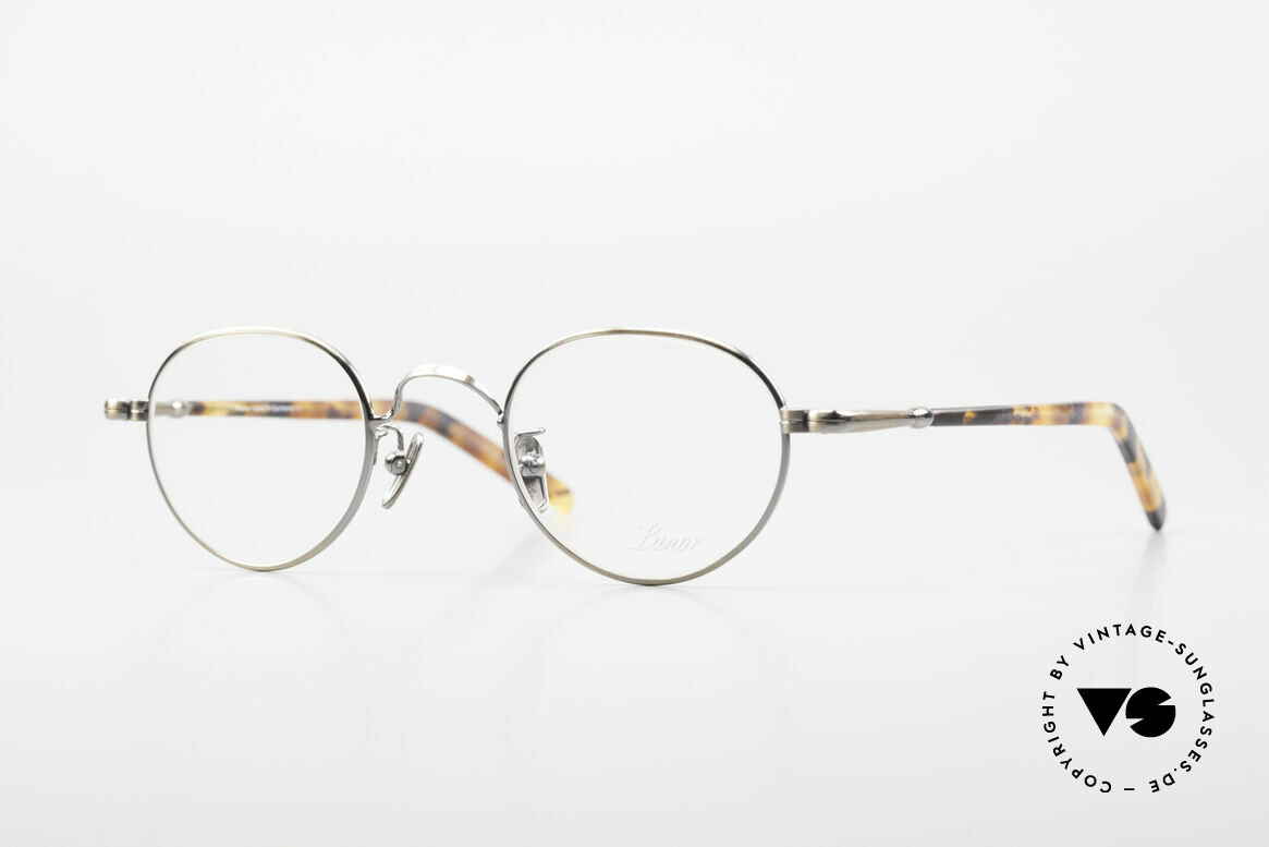 Lunor VA 107 Panto Style Antique Gold AG, old Lunor eyeglasses, size 43/24 in AG: ANTIQUE GOLD, Made for Men and Women