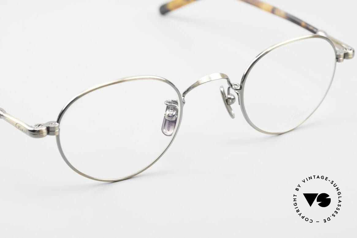 Lunor VA 107 Panto Style Antique Gold AG, top-notch craftsmanship & timeless PANTO frame design, Made for Men and Women