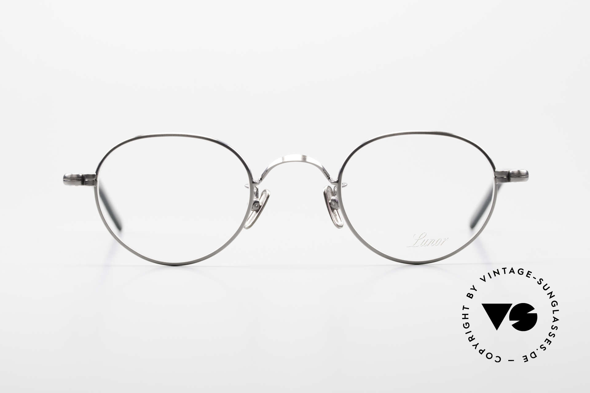 Lunor VA 107 Panto Style Antique Silver AS, LUNOR: honest craftsmanship with attention to details, Made for Men and Women