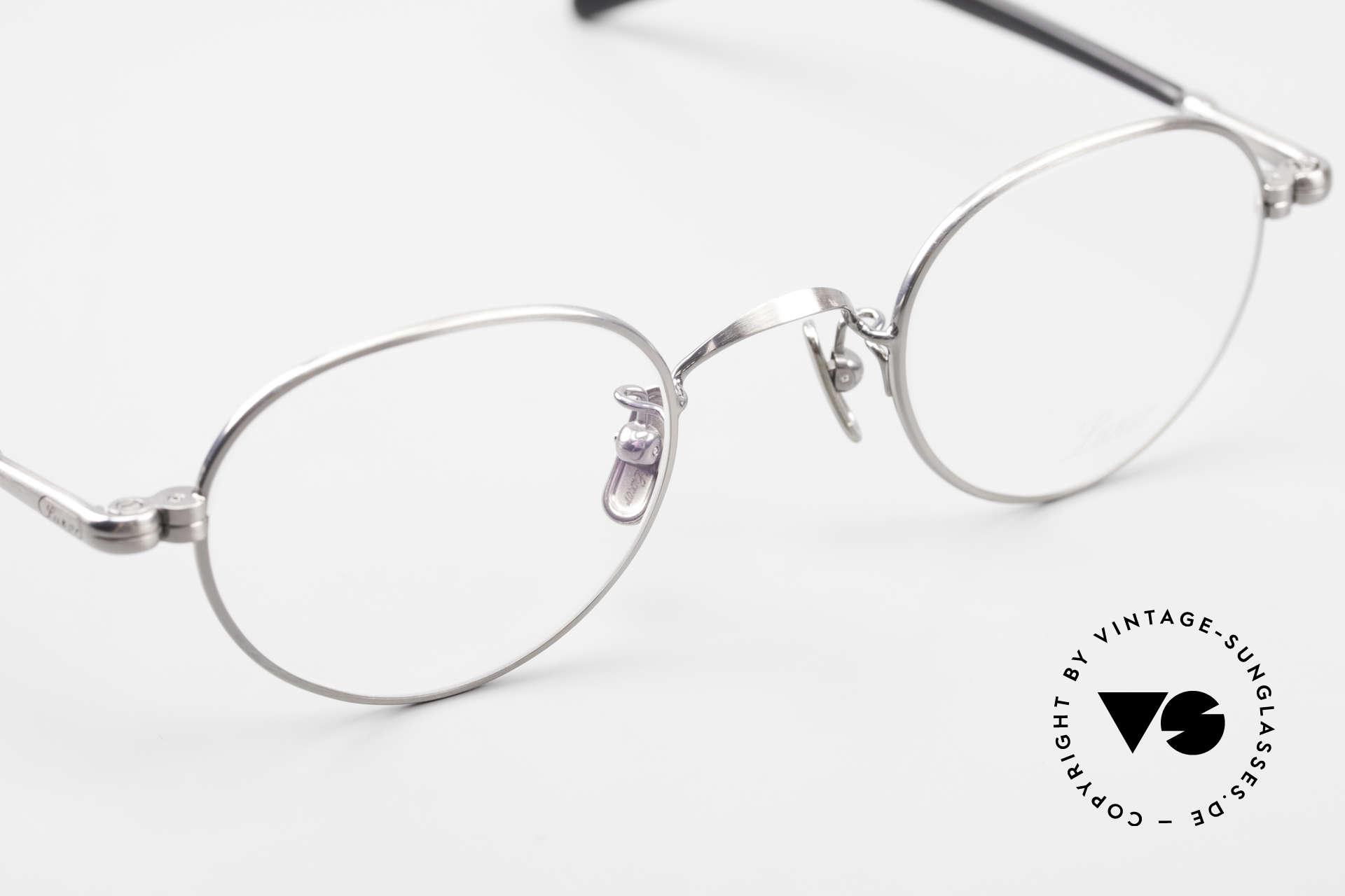 Lunor VA 107 Panto Style Antique Silver AS, top-notch craftsmanship & timeless PANTO frame design, Made for Men and Women