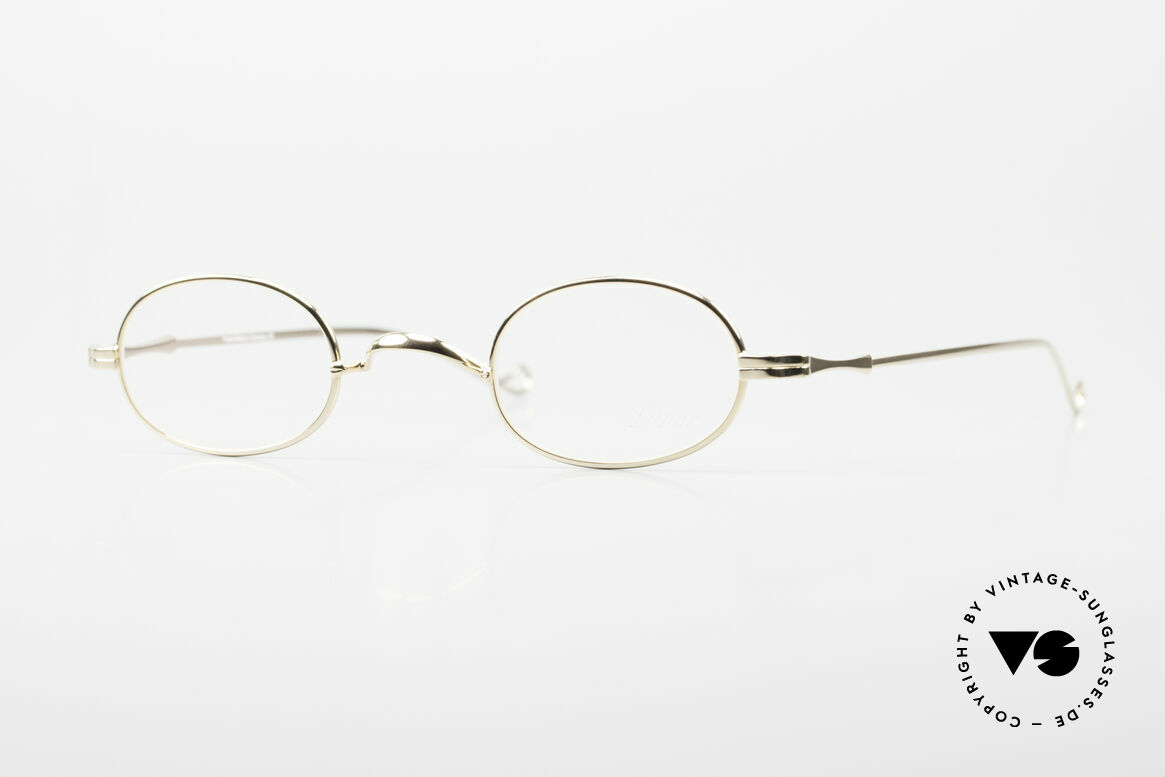 """Lunor II 08 Oval Lunor Frame Gold Plated, Lunor: shortcut for French """"Lunette d'Or"""" (gold glasses), Made for Men and Women"""