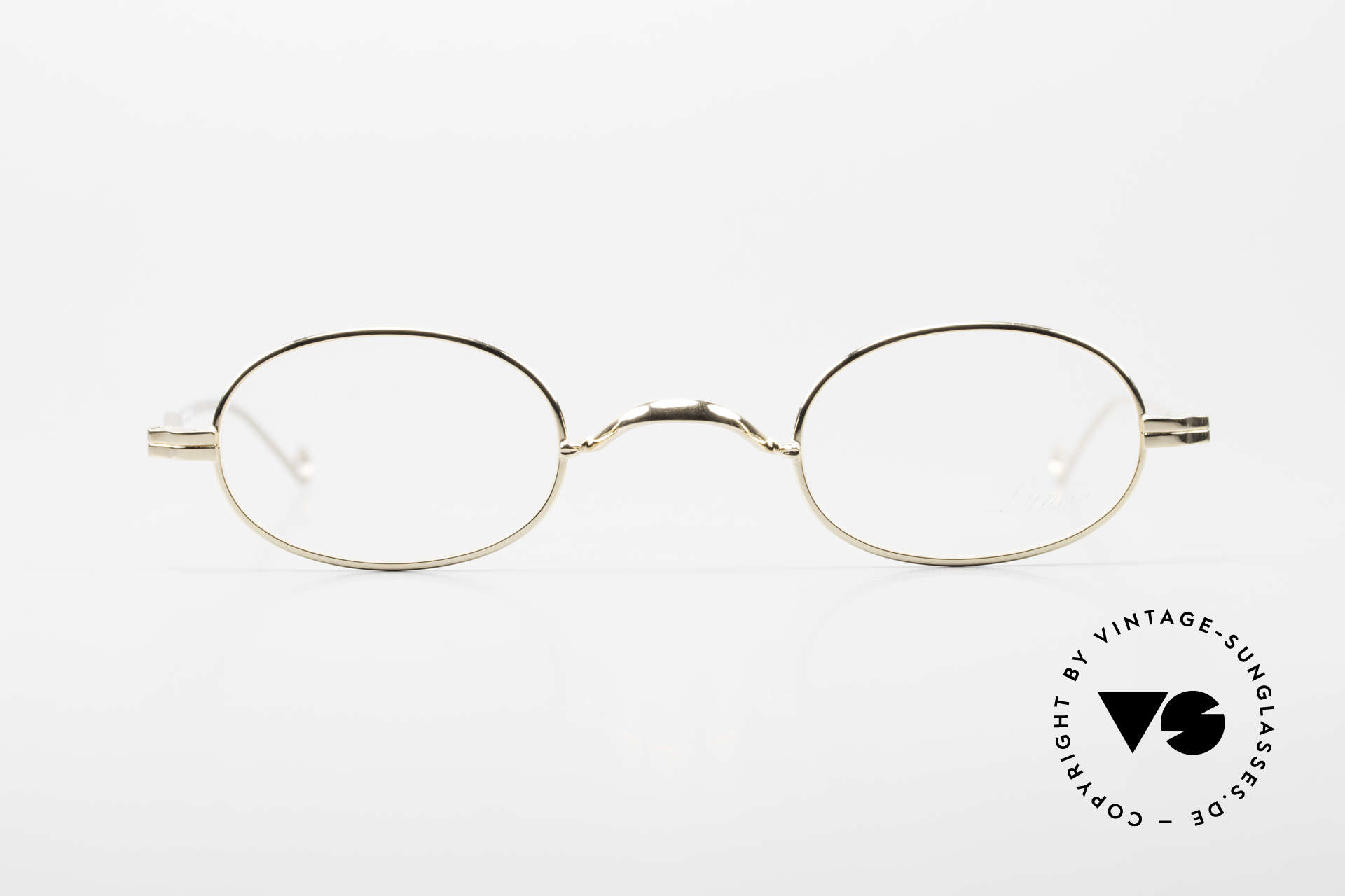 Lunor II 08 Oval Lunor Frame Gold Plated, traditional German brand; quality handmade in Germany, Made for Men and Women