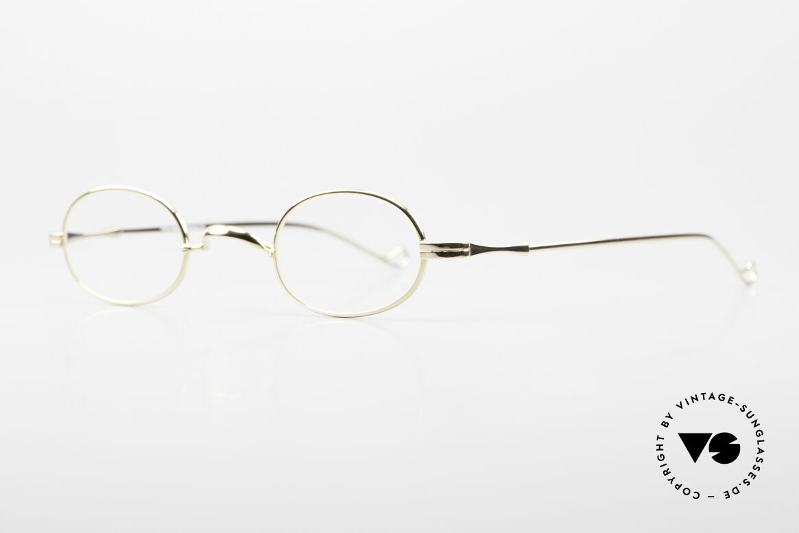 """Lunor II 08 Oval Lunor Frame Gold Plated, well-known for the """"W-bridge"""" & the plain frame designs, Made for Men and Women"""