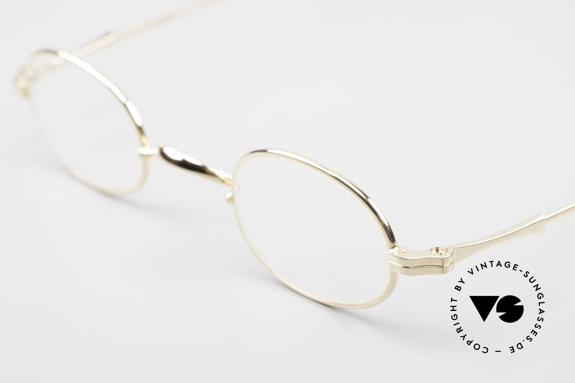 Lunor II 08 Oval Lunor Frame Gold Plated, unworn single item (for all lovers of quality), true rarity, Made for Men and Women