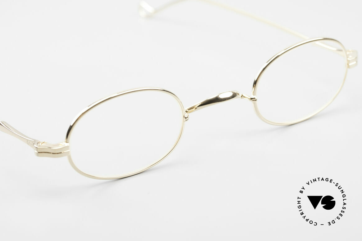 Lunor II 08 Oval Lunor Frame Gold Plated, NO RETRO EYEGLASSES; but a luxury vintage ORIGINAL, Made for Men and Women