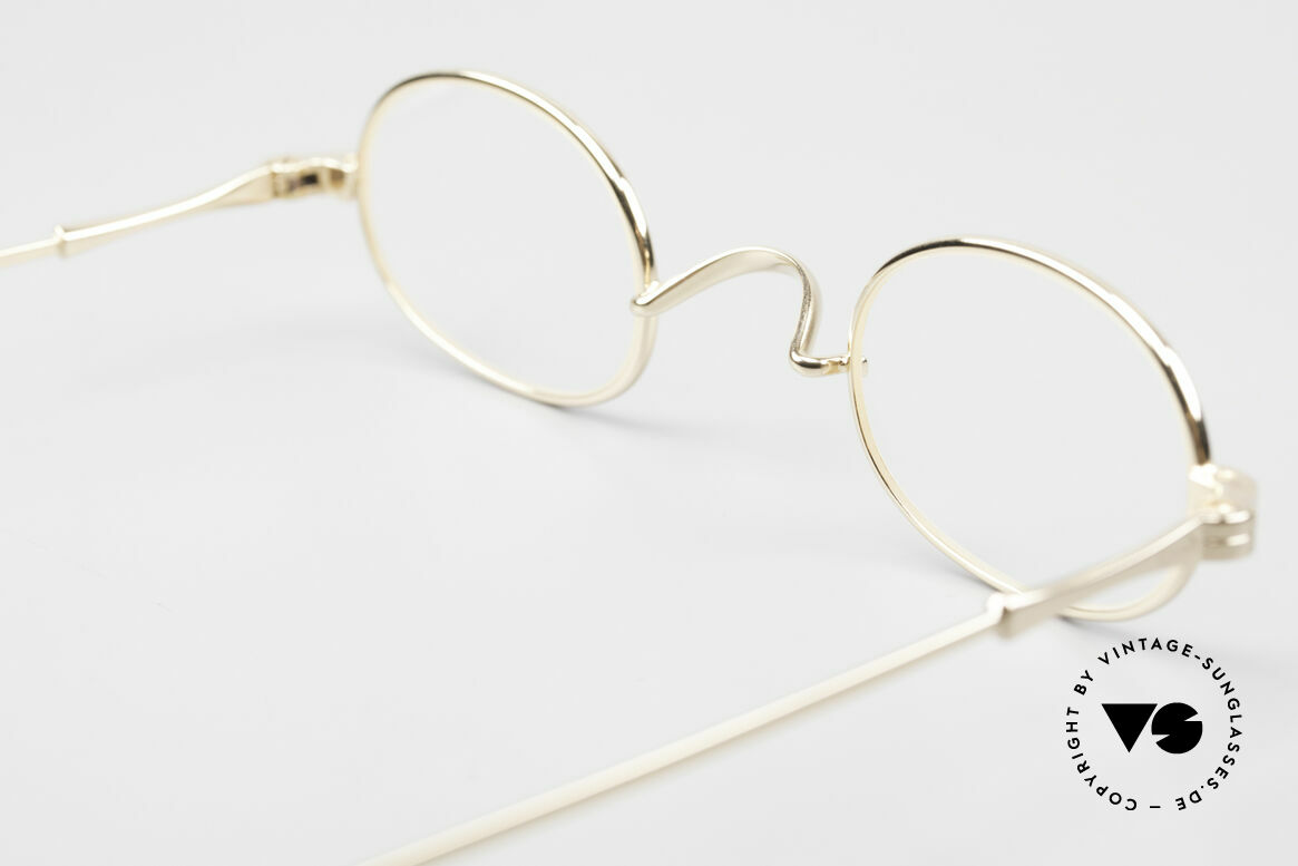 Lunor II 08 Oval Lunor Frame Gold Plated, Size: small, Made for Men and Women