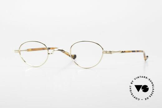 Lunor II A 03 Gold Plated Eyeglass-Frame Details
