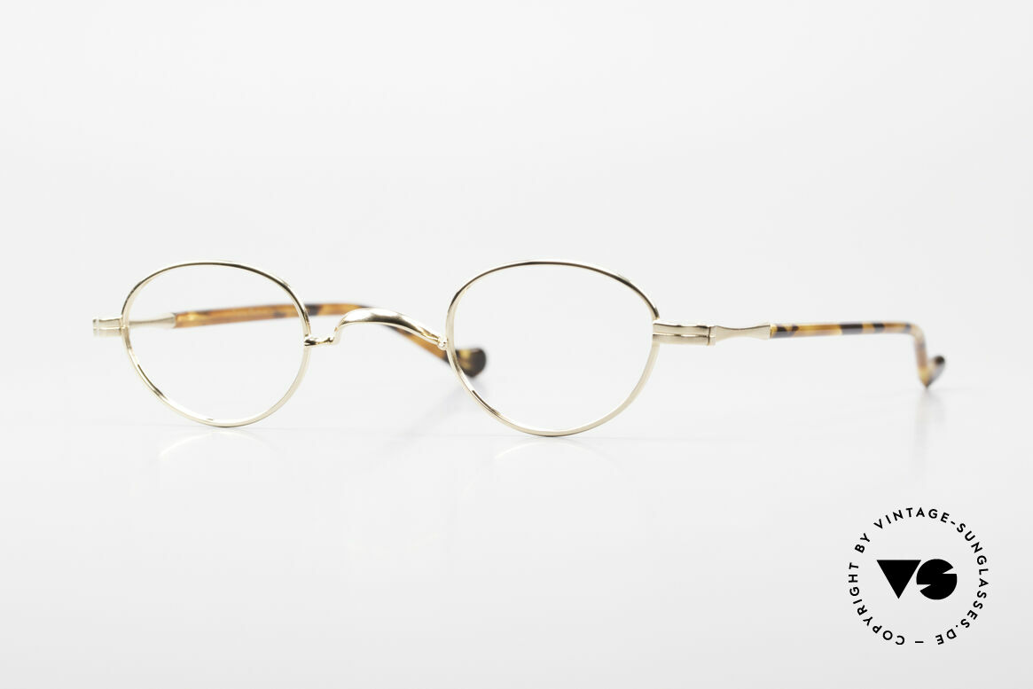 Lunor II A 03 Gold Plated Eyeglass-Frame, rare Lunor glasses of the Lunor II-A series (A = acetate), Made for Men and Women