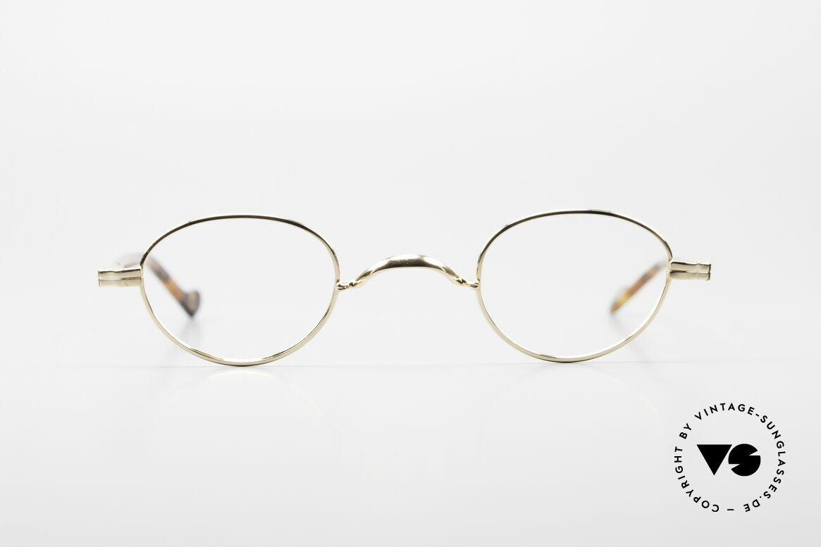 Lunor II A 03 Gold Plated Eyeglass-Frame, combination: full rimmed metal frame & acetate temples, Made for Men and Women