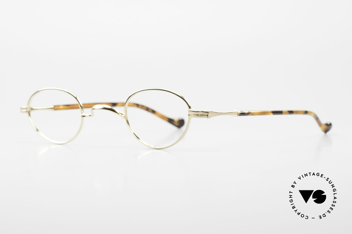 Lunor II A 03 Gold Plated Eyeglass-Frame, precious 22ct GOLD-PLATED, tangible TOP-notch quality, Made for Men and Women