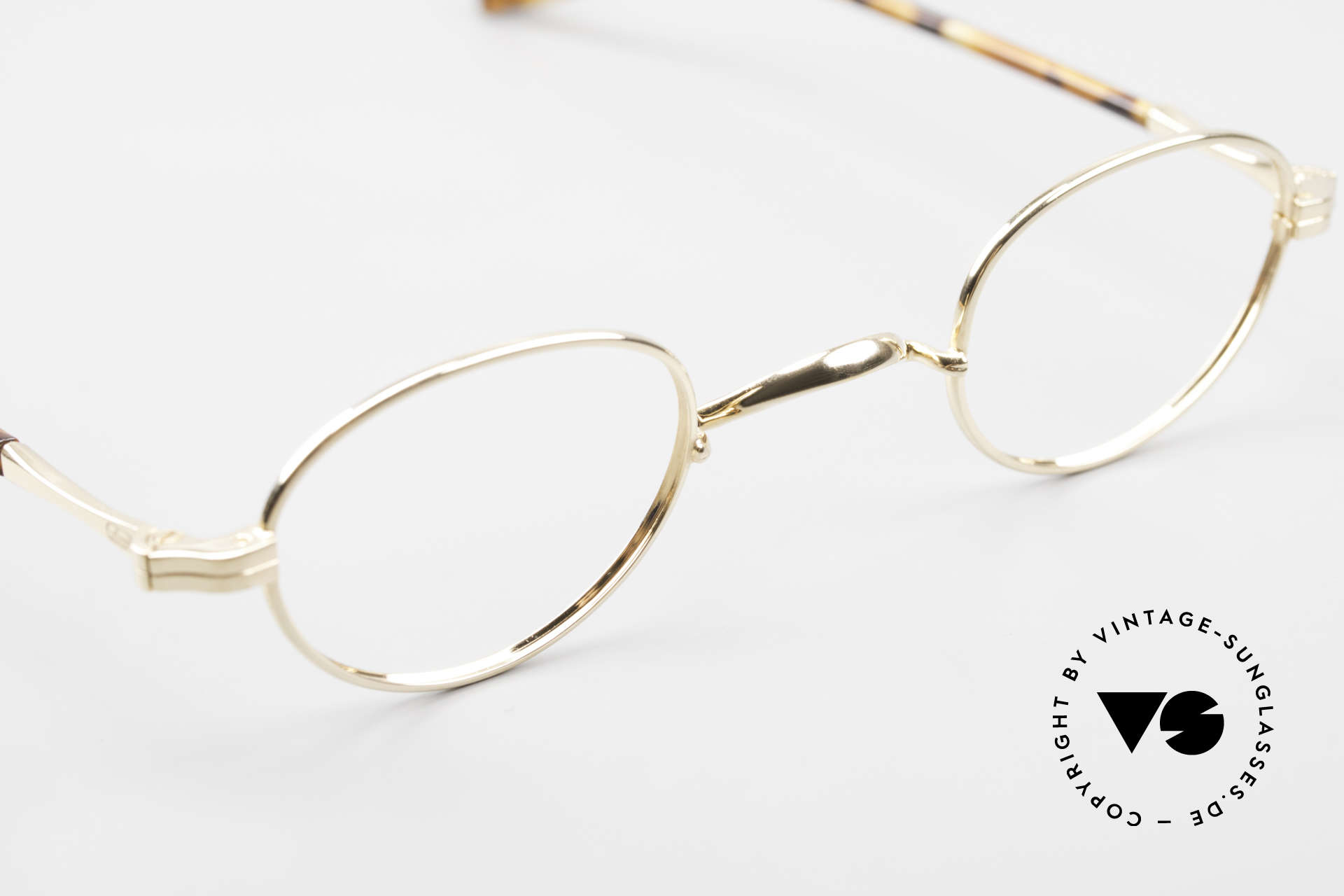 Lunor II A 03 Gold Plated Eyeglass-Frame, a 20 years old, unworn RARITY (for all lovers of quality), Made for Men and Women