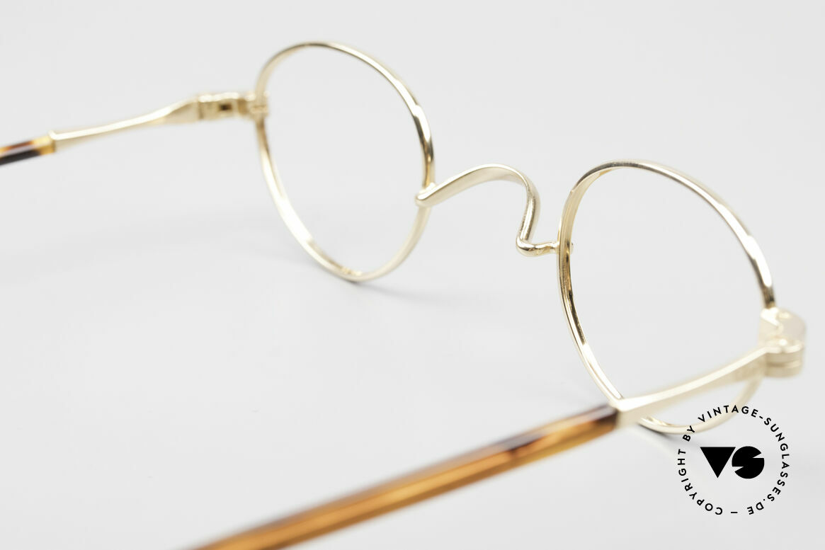 Lunor II A 03 Gold Plated Eyeglass-Frame, Size: extra small, Made for Men and Women