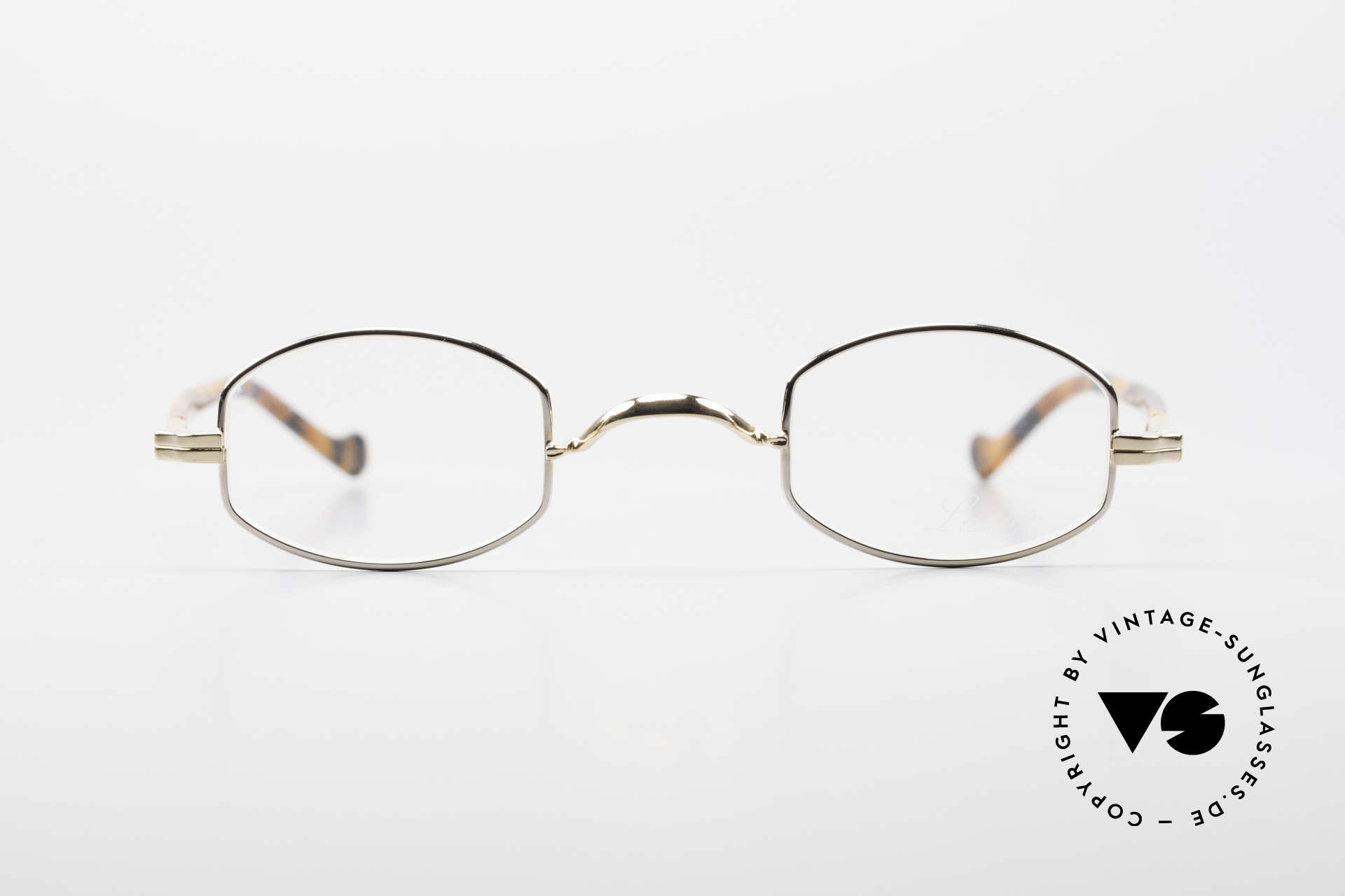 Lunor II A 02 Limited Edition BC Tortoise, BC: GOLD and Platinum PLATED with acetate temples, Made for Men and Women