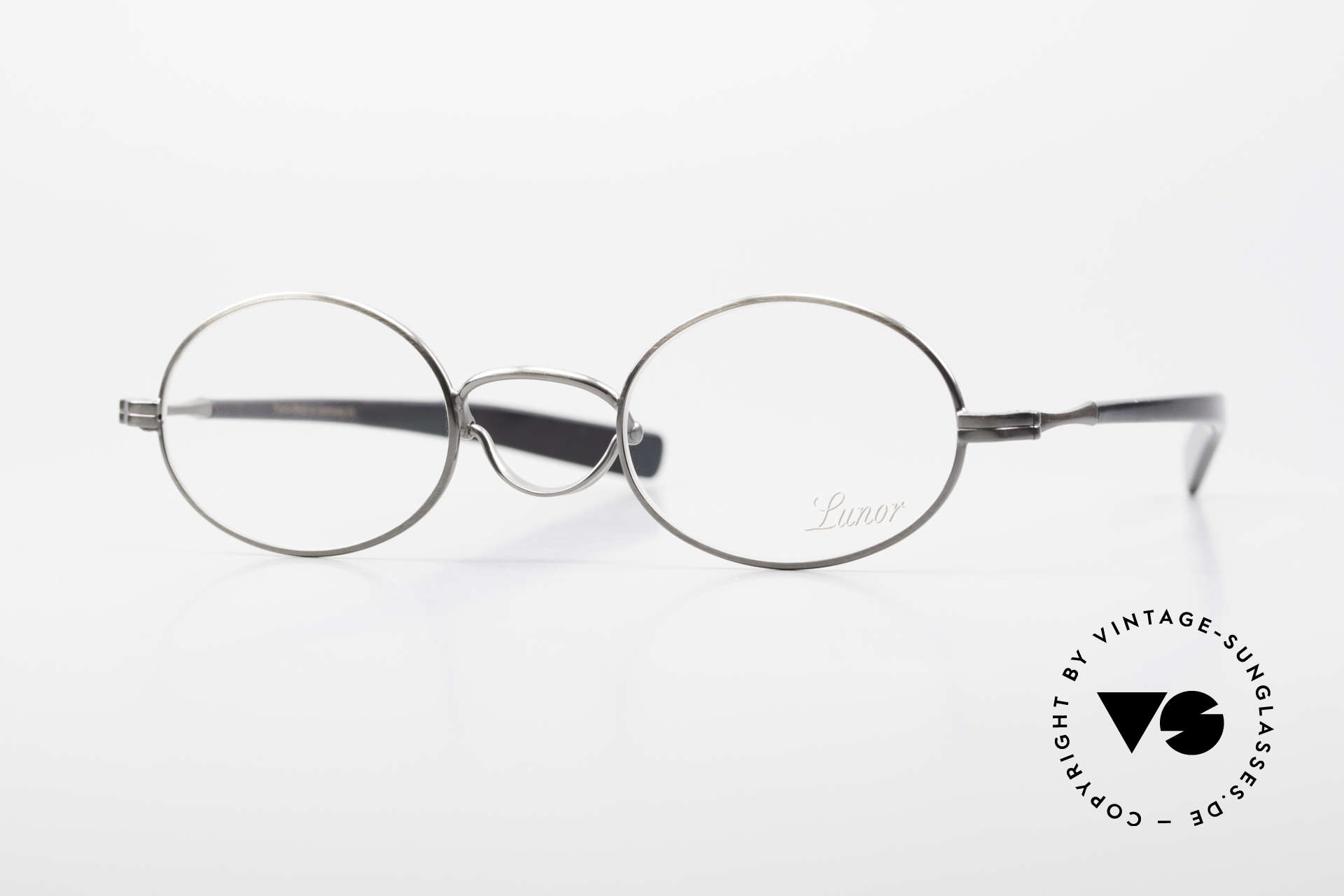 """Lunor Swing A 33 Oval Swing Bridge Antique Silver AS, rare, old VINTAGE LUNOR glasses of the Swing """"A"""" series, Made for Men and Women"""