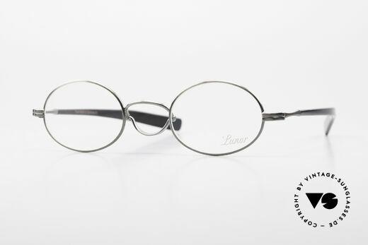 Lunor Swing A 33 Oval Swing Bridge Antique Silver AS Details