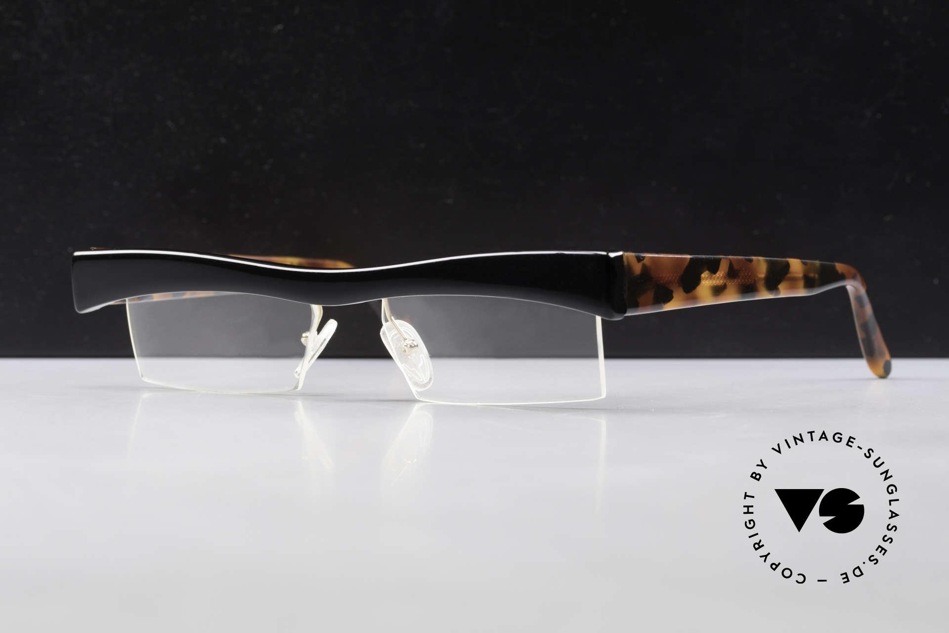 Design Maske Berlin Hamma Artful Vintage Eyeglasses 90s, rare, old vintage eyeglasses by Design Maske Berlin, Made for Men