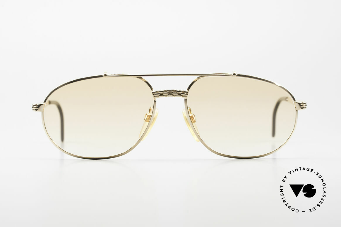 Bugatti EB503 Classic Luxury Sunglasses 90s, timeless classic gold-plated frame in XL size 60/17, Made for Men
