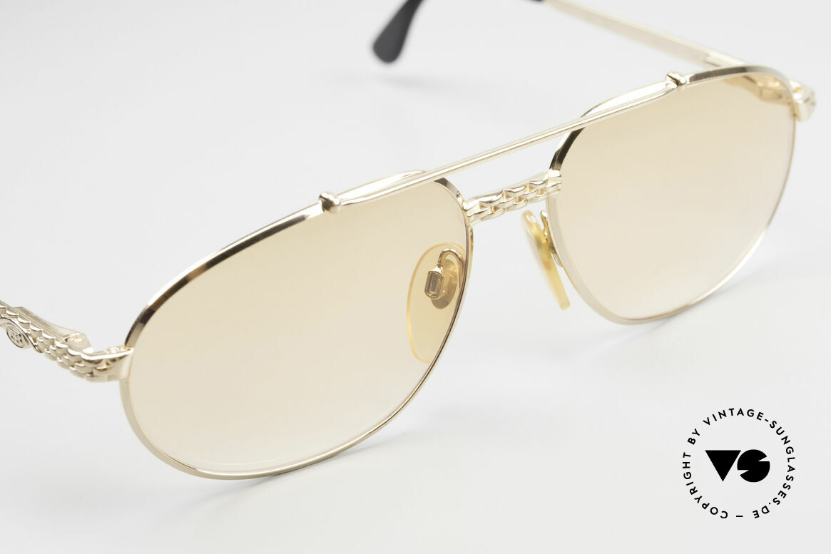 Bugatti EB503 Classic Luxury Sunglasses 90s, with orange-gradient lenses (also wearable at night), Made for Men