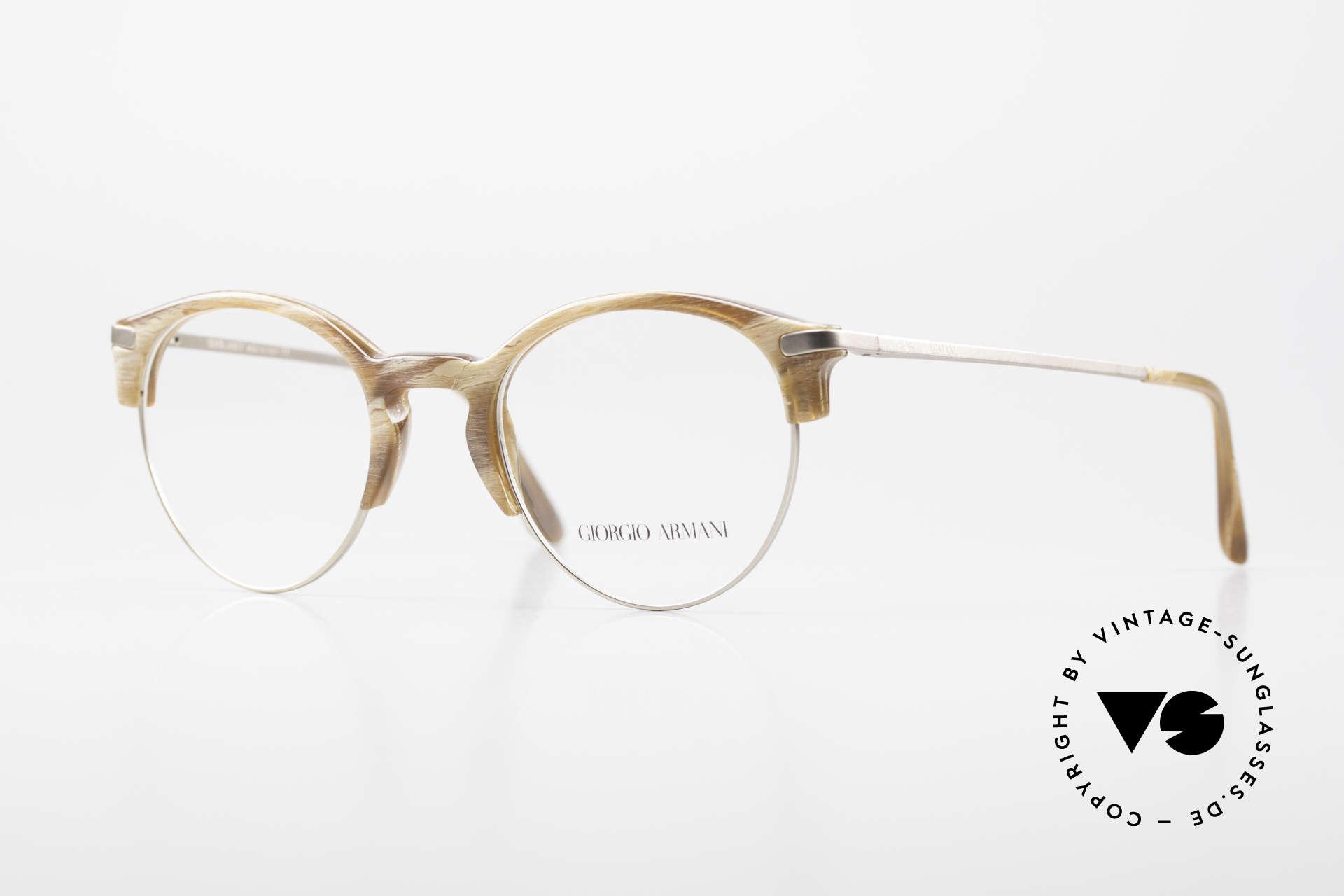 Giorgio Armani 7014 Panto Frame With Spring Hinges, timeless Giorgio Armani 'Frames of Life' eyeglasses, Made for Men and Women
