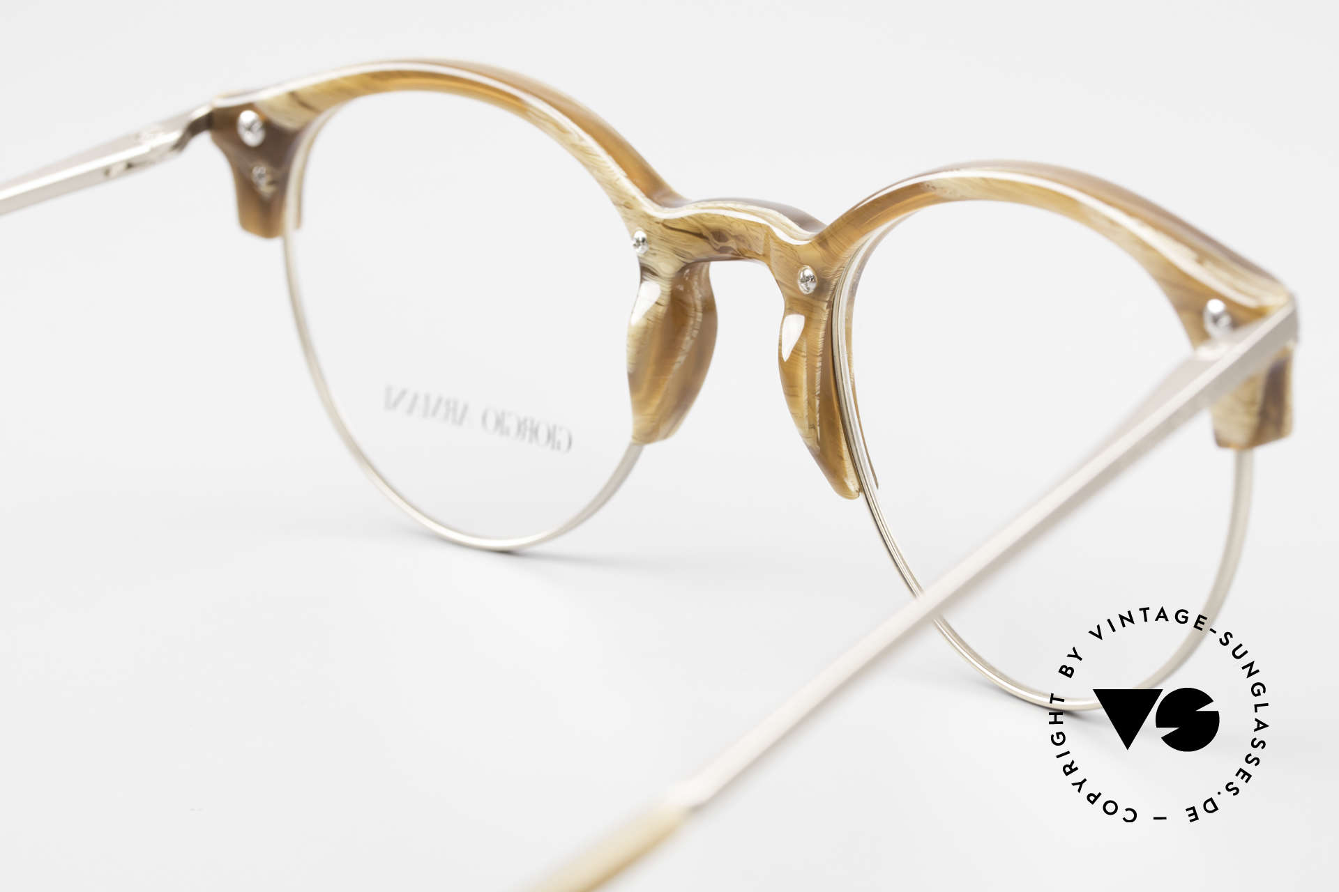 Giorgio Armani 7014 Panto Frame With Spring Hinges, the frame can be glazed with optical lenses of any kind, Made for Men and Women