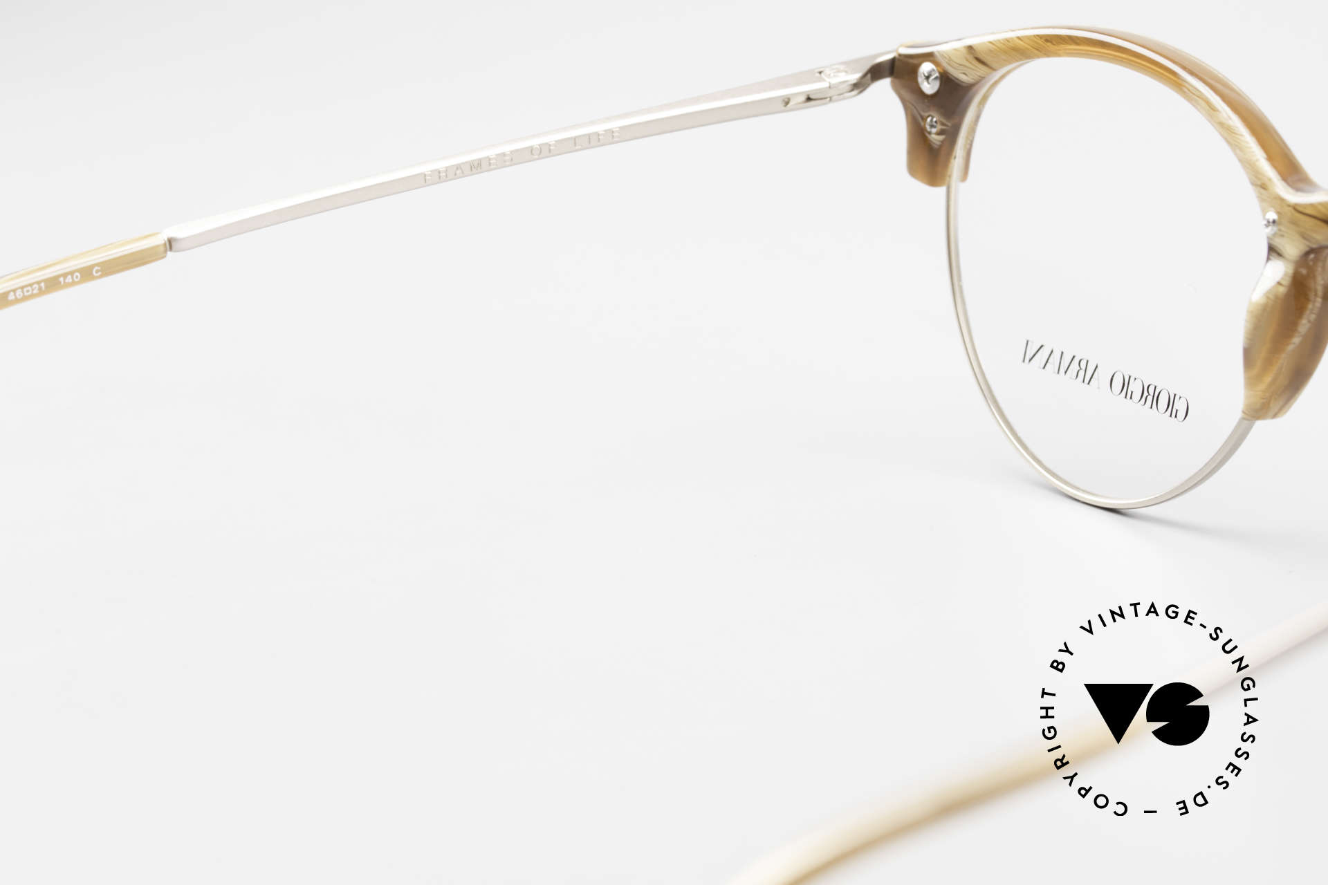 Giorgio Armani 7014 Panto Frame With Spring Hinges, Size: medium, Made for Men and Women