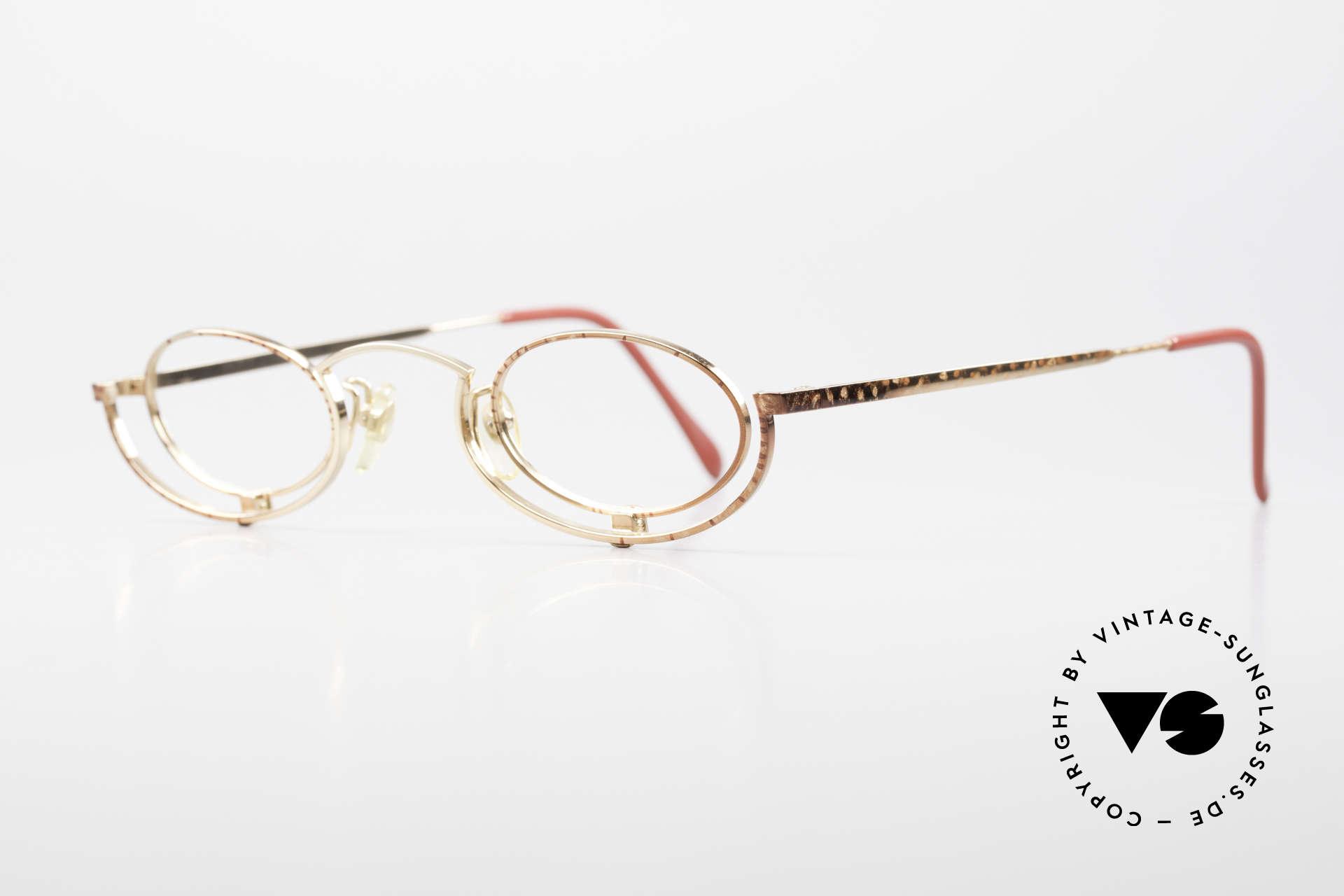 Casanova LC35 Crazy Designer Reading Glasses, top-notch craftsmanship & very subtle frame pattern, Made for Women