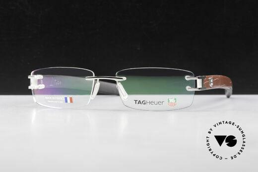 Tag Heuer L-Type 0113 Alligator Leather Rimless Frame Details