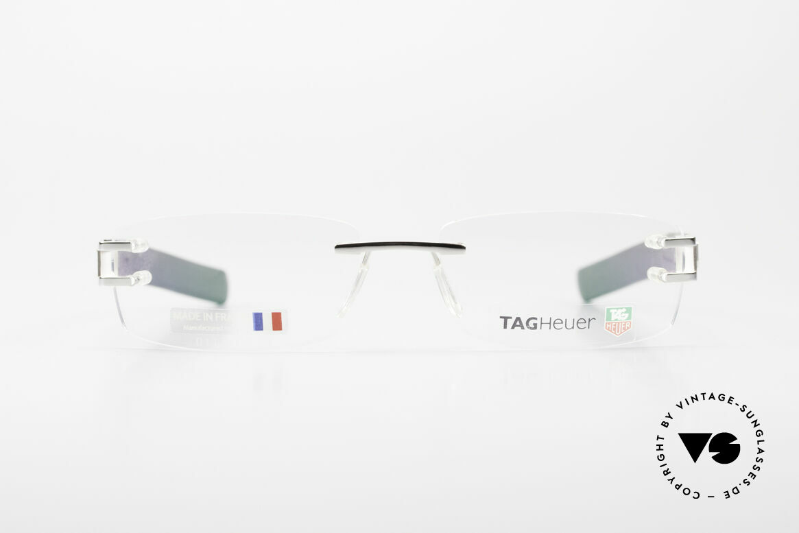 """Tag Heuer L-Type 0113 Alligator Leather Rimless Frame, """"L"""" means leather (alligator leather from Louisiana), Made for Men"""