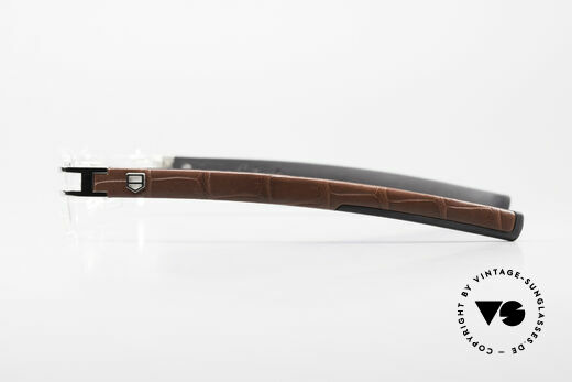 Tag Heuer L-Type 0113 Alligator Leather Rimless Frame, NO RETRO EYEWEAR, but an old ORIGINAL from 2006, Made for Men