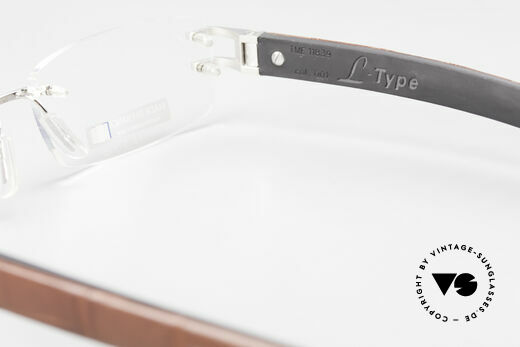 Tag Heuer L-Type 0113 Alligator Leather Rimless Frame, Size: medium, Made for Men