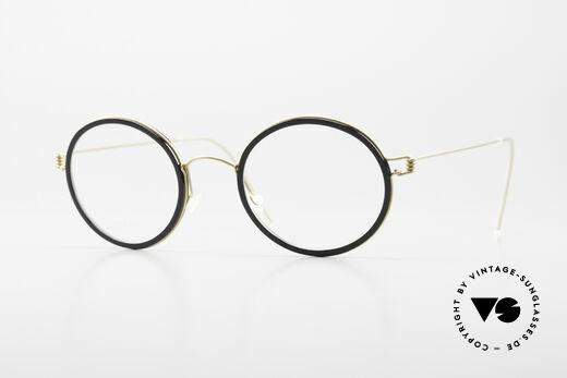 Lindberg Cameron Air Titan Rim Round Titan Glasses Acetate Details